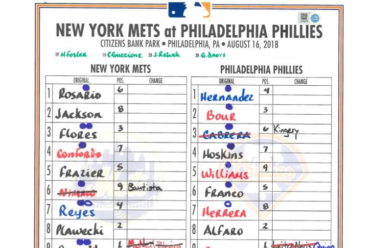 Lineup Card: Mets Score 24 Runs in Single Game