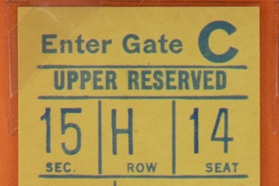Ticket from Seaver's Near-Perfect Game in 1969