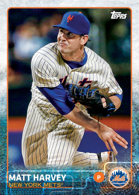 Matt Harvey Topps Baseball Card