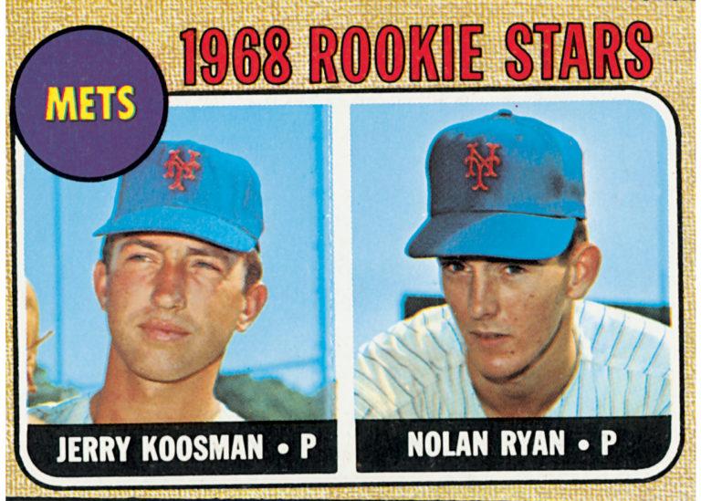 Topps 1968 Rookies Card with Koosman and Ryan
