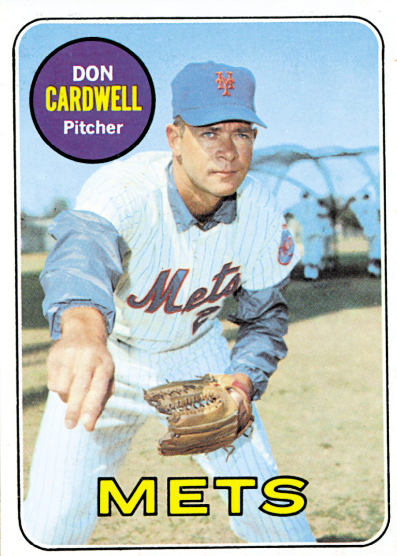 Don Cardwell 1969 Topps Baseball Card