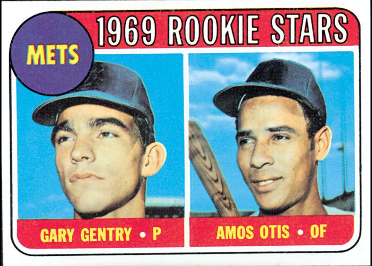 Gary Gentry & Amos Otis Rookie Topps Card