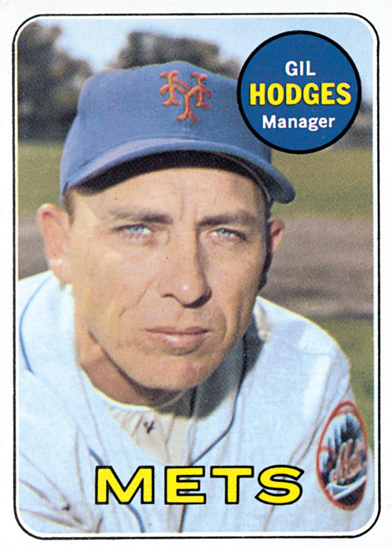 Gil Hodges 1969 Topps Baseball Card