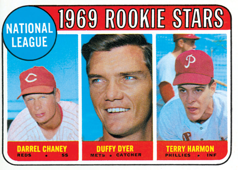 1969 Topps NL Rookie Stars Card with Duffy Dyer