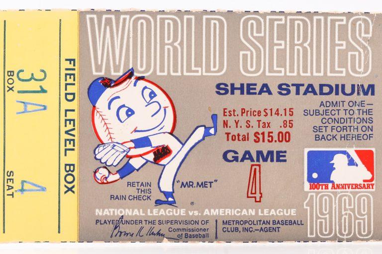 1969 World Series Game 4 Ticket