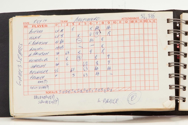 Scorebook Opened to Game 3 of 1969 World Series