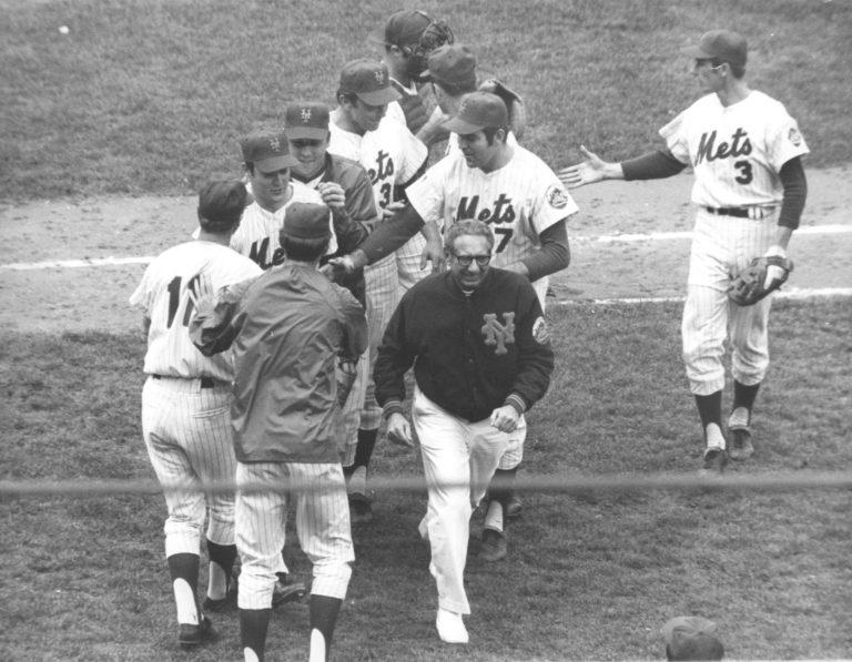 Mets Celebrate Win in 1969 World Series