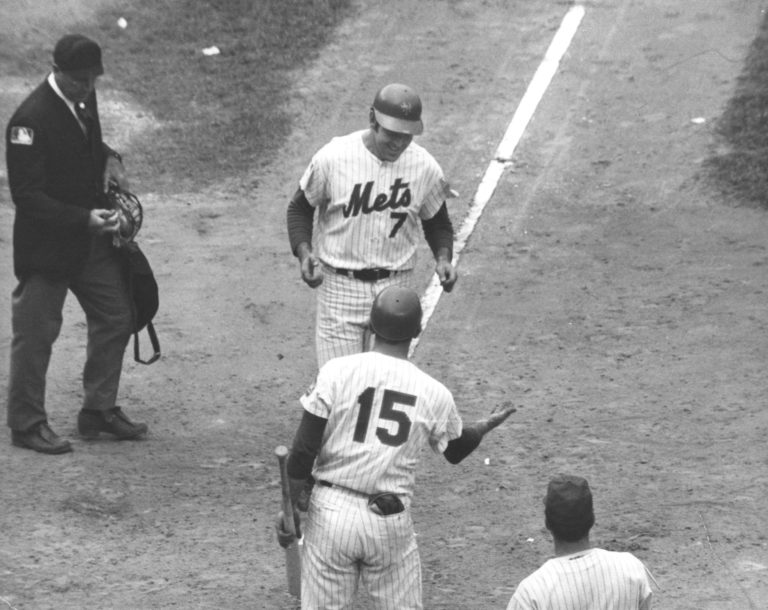 Jerry Grote & Ed Kranepool in 1969 World Series