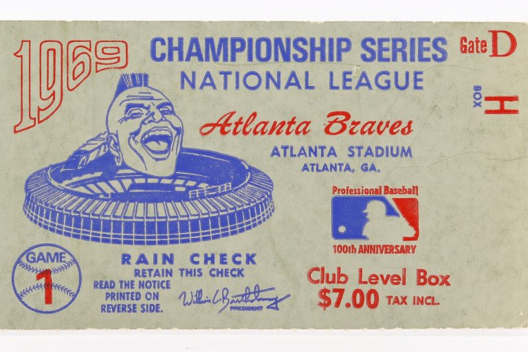 Ticket for Game 1 of 1969 NLCS