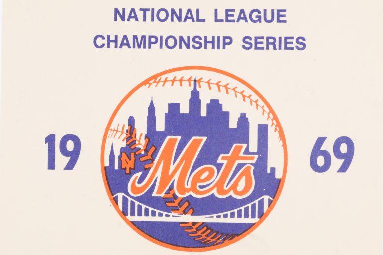 1969 NLCS Media Parking Pass