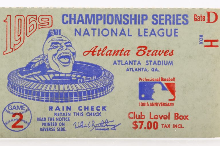 Ticket to Game 2 of 1969 NLCS