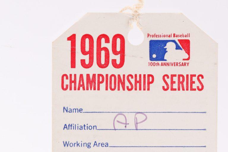 1969 NLCS Atlanta Stadium Press Pass