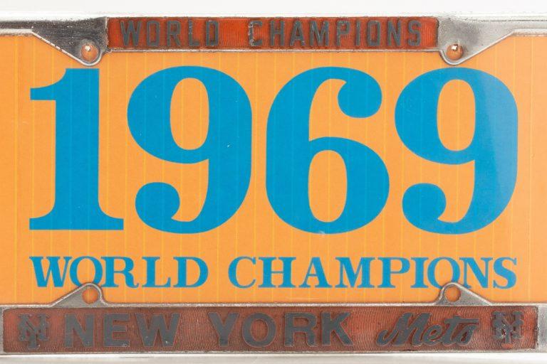 New York Mets 1969 World Series License Plate Holder