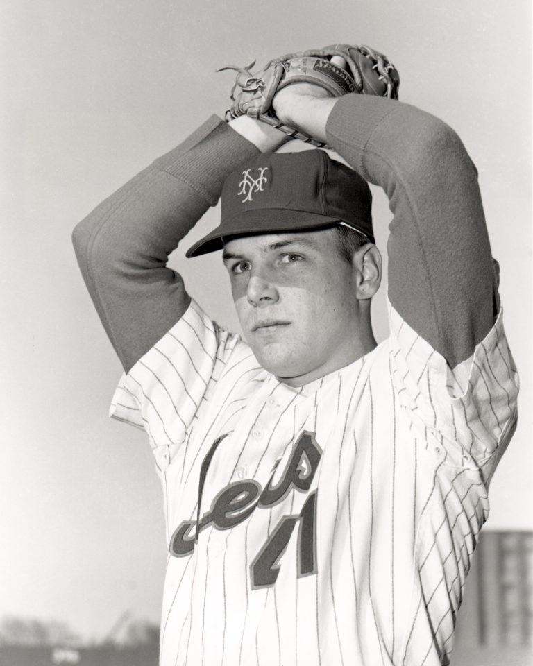 A Young Tom Seaver Poses at the Start of 1967 Season