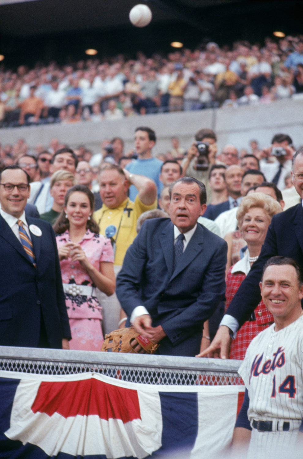 Nixon Throws First Pitch for 1970 All-Star Game