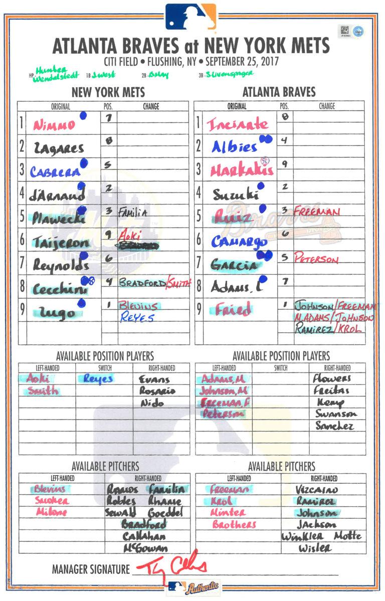 Lineups: Mets Break Franchise Home Run Record