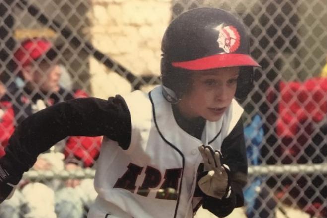 Drew Smith as a Little Leaguer