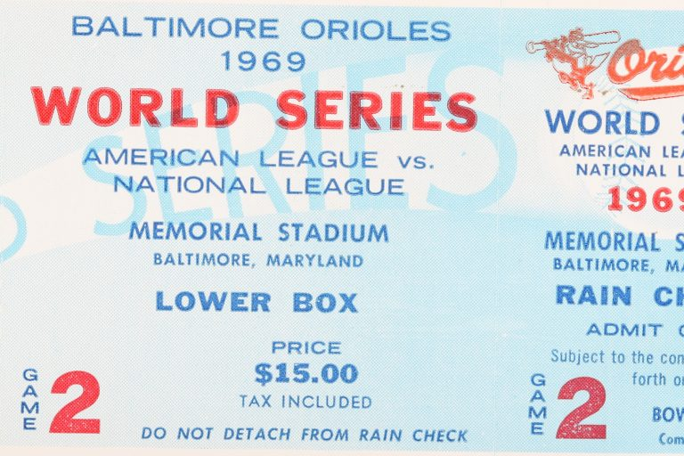 Ticket from Game 2 of 1969 World Series - Front