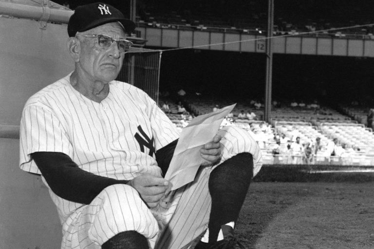 Photo of Casey Stengel in New York Yankees Uniform