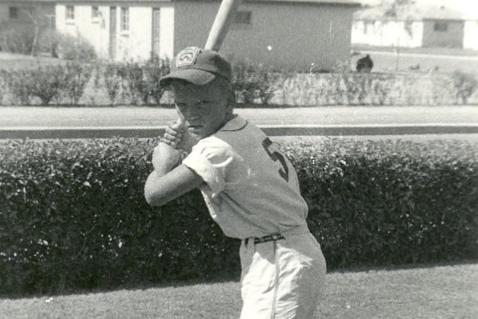 Duffy Dyer as a Little Leaguer