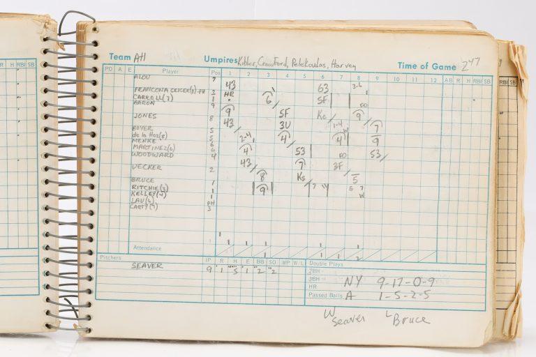 1967 Scorebook Featuring 17 Mets Hits