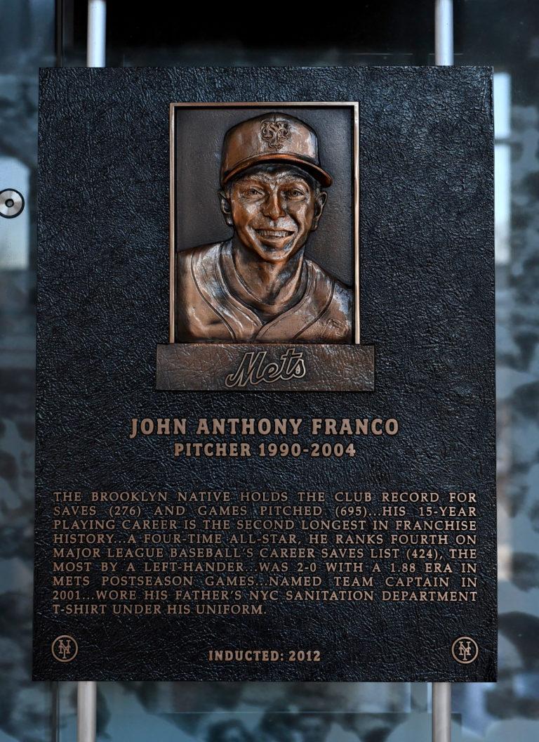 John Franco Mets Hall of Fame Plaque