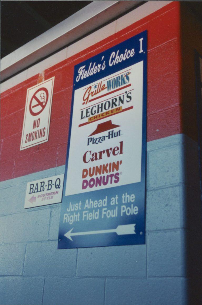 Shea Stadium Concessions Sign