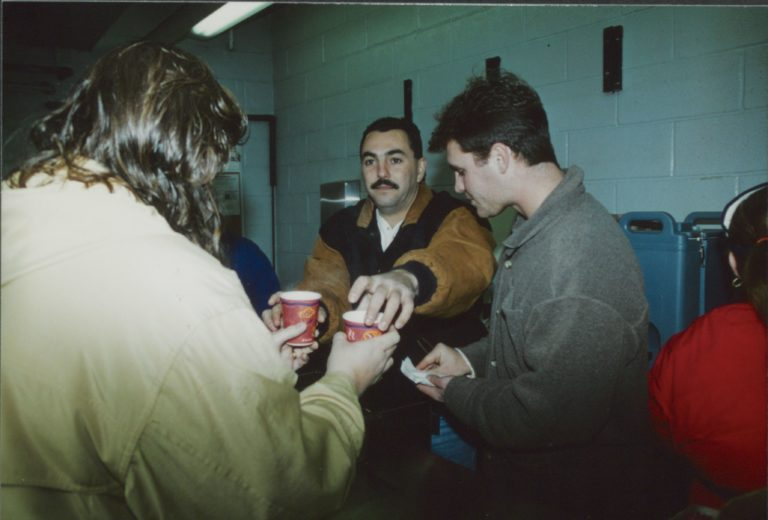 Mets Pitcher Joe Franco Hands Out Coffee