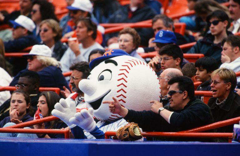Mr. Met Mingles with Mets Fans