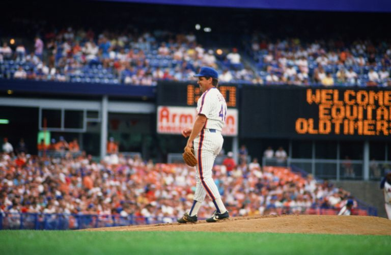 Tom Seaver Returns to Mound on Old-Timers Day