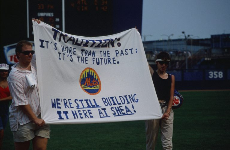 Emerson Banner Day: Banner on Building Tradition at Shea