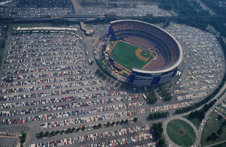 Aerial View of Shea Stadium on Gameday