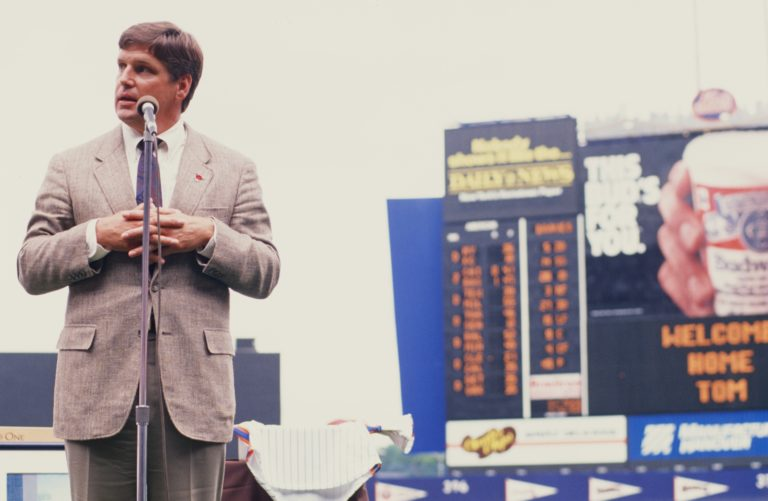 Tom Seaver Speaking at His Number Retirement
