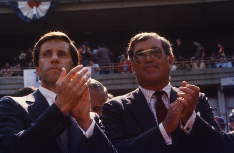 Fred Wilpon and Nelson Doubleday Jr. at Shea Stadium