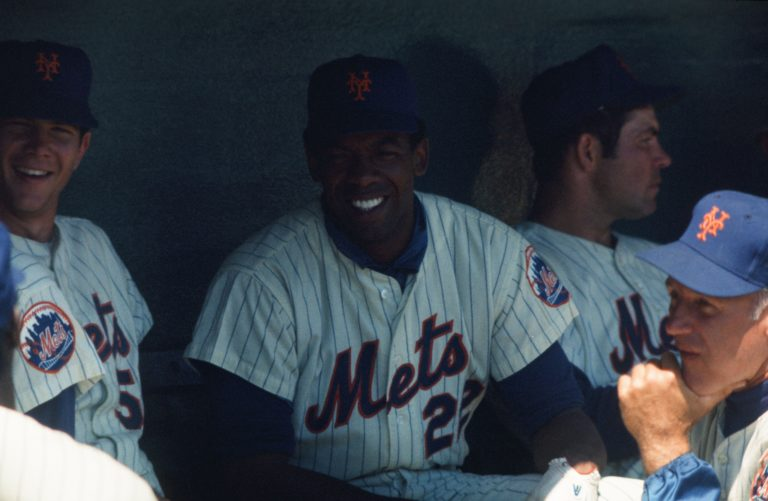 Donn Clendenon in the Dugout