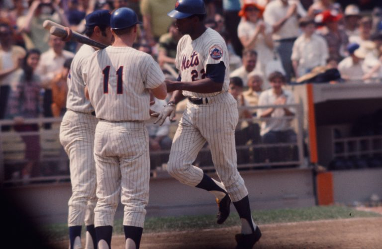 Donn Clendenon on the Field After Joining Mets