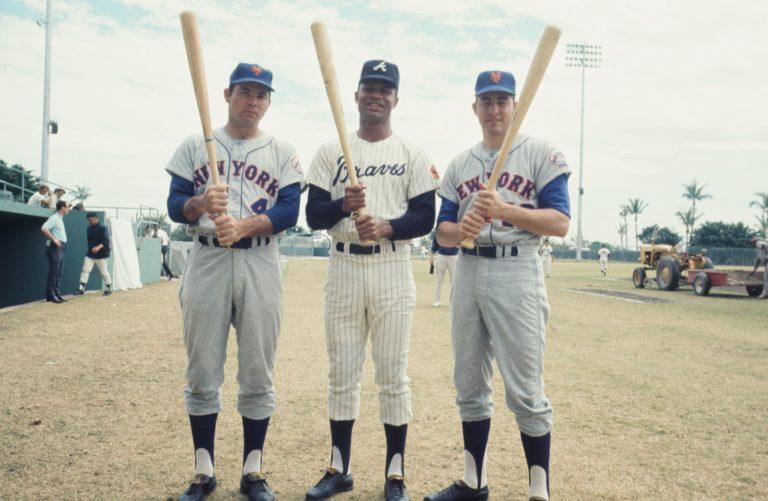 Photo of Ron Swoboda, Ken Boswell & Felipe Alou