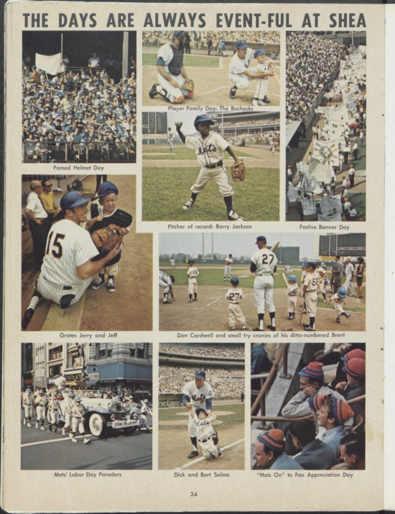 1969 Mets Yearbook: Events at Shea