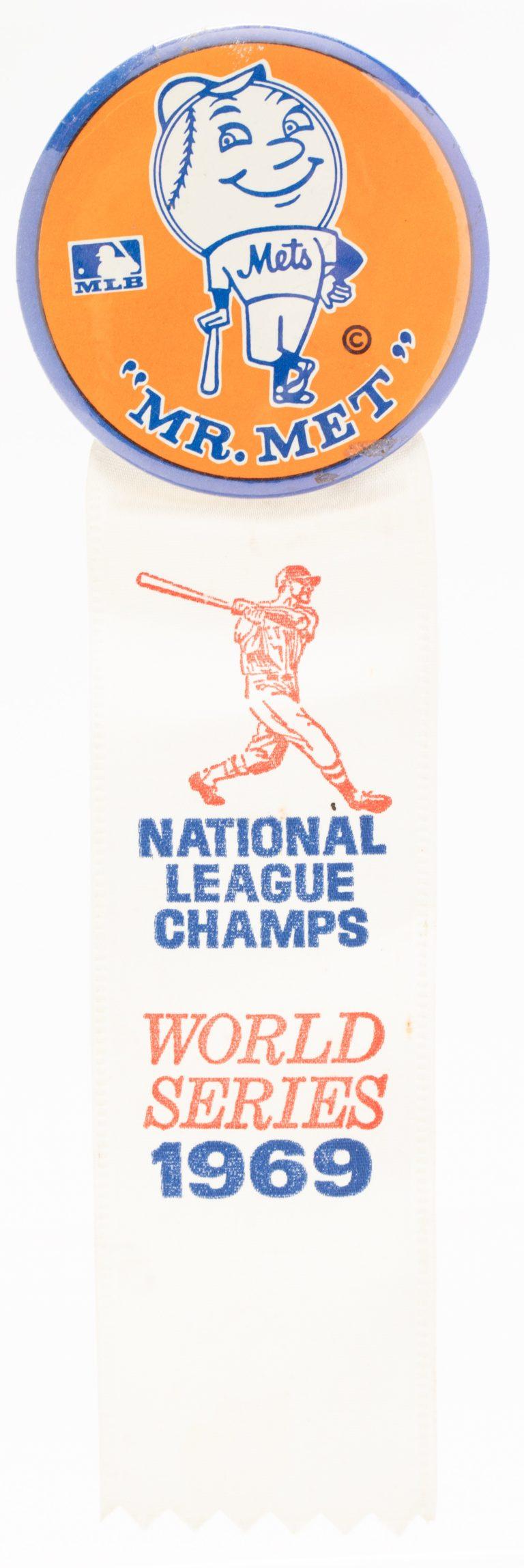 1969 Mr. Met National League Champs Button