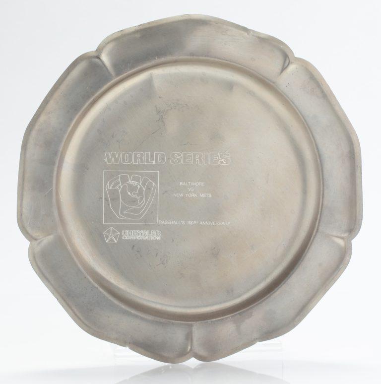 Chrysler 1969 World Series Pewter Plates