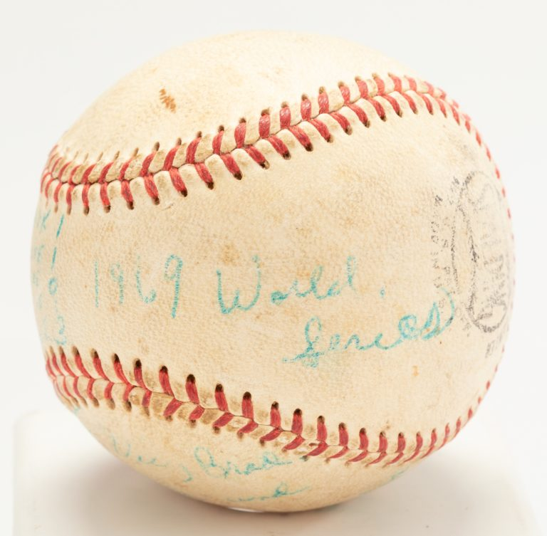 Umpire Lee Meyer's World Series Game-Used Ball