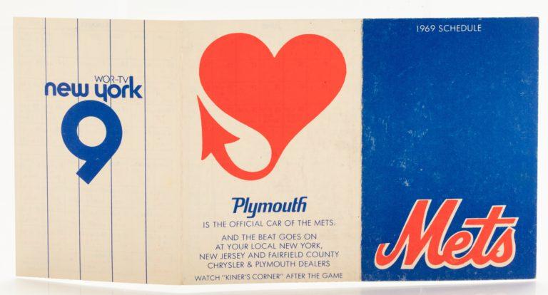 1969 Mets Regular Season Pocket Schedule - Outside