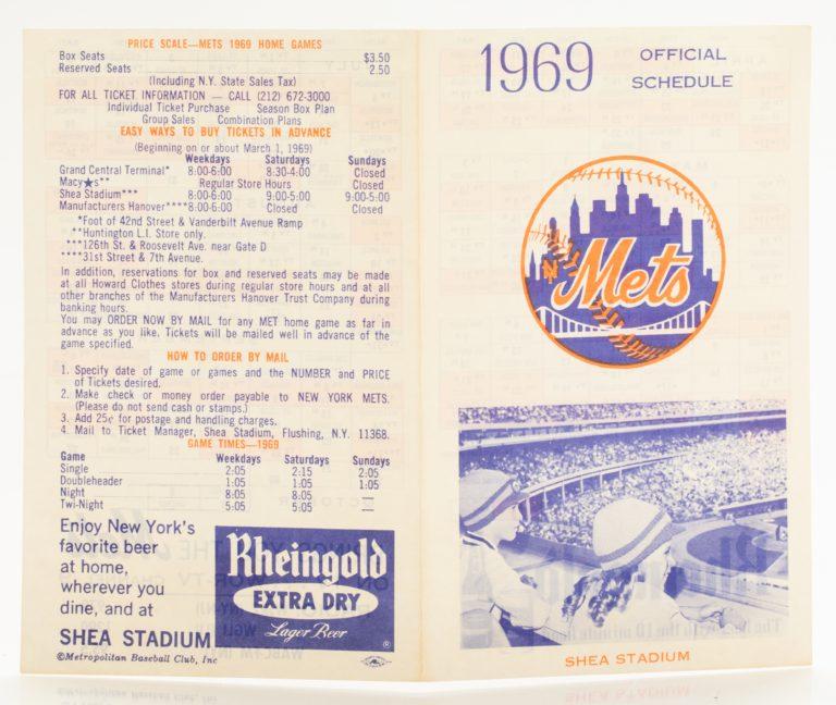 1969 Official New York Mets Schedule