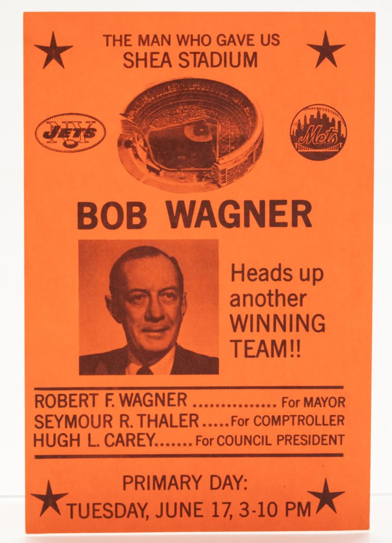 1969 Mets/Jets Schedule Featuring Robert Wagner - Front with Wagner Photo