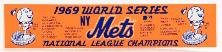 1969 Mets World Series Sticker