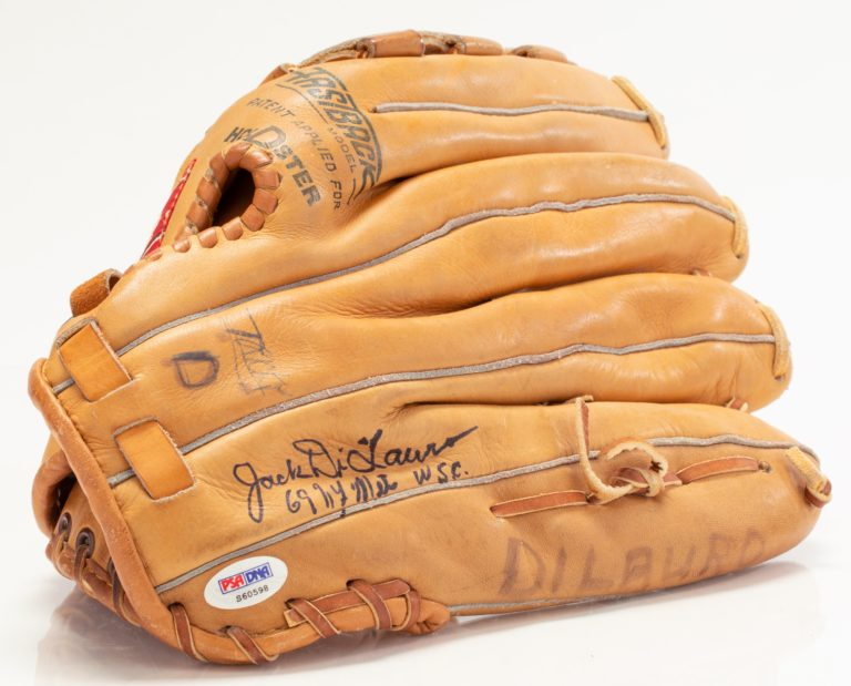 Jack DiLauro Autographed Glove