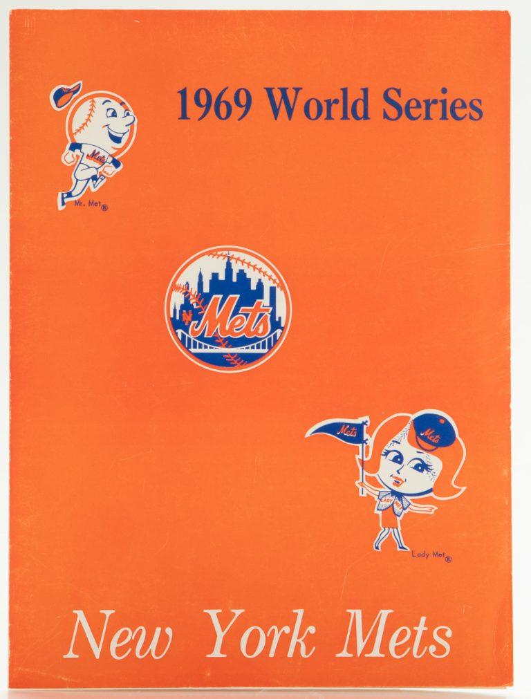 Shea Stadium Diamond Club Menu from 1969 World Series