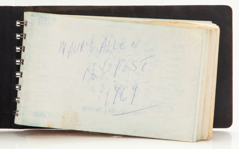 Maury Allen's Scorebook from Game 2 of 1969 NLCS