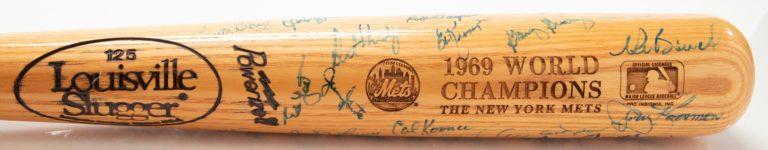 1969 World Series Champions Autographed Bat