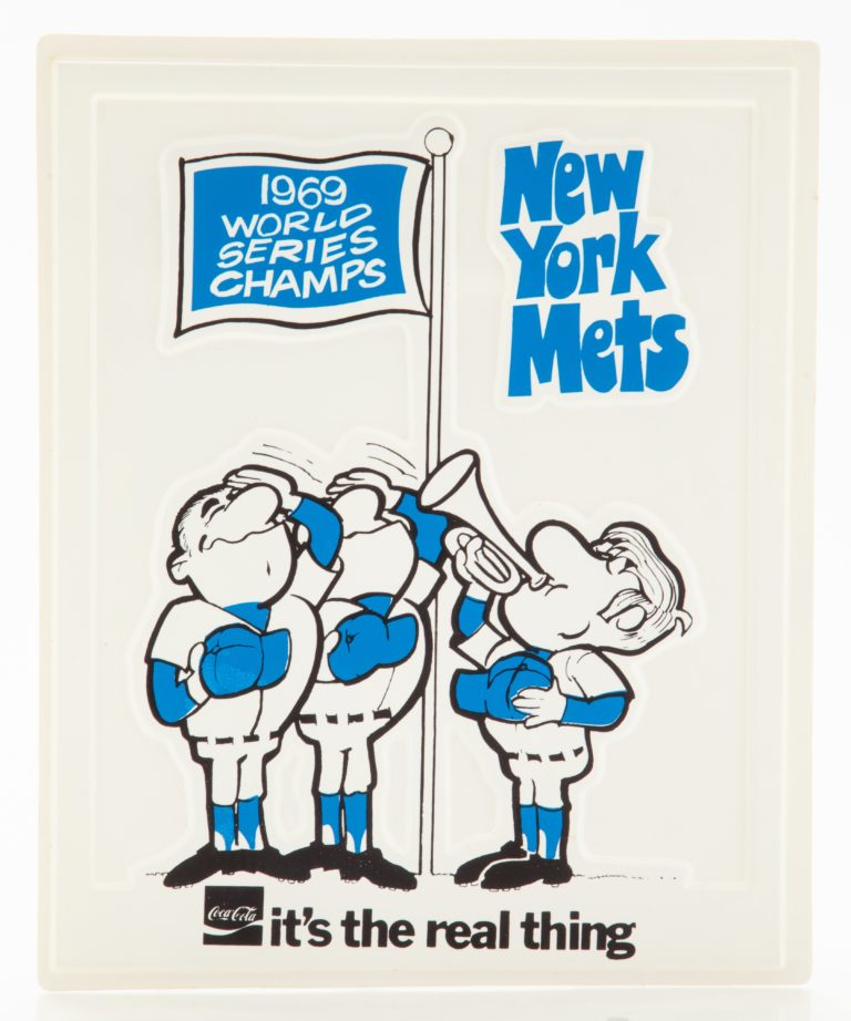 New York Mets 1969 World Series Champs Poster by Coca-Cola